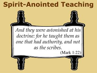 Spirit-Anointed Teaching