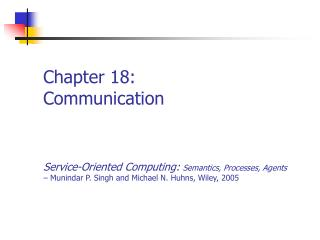 Chapter 18: Communication