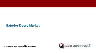 Exterior Doors Market