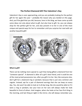 The Perfect Diamond Gift This Valentine's Day - Aura Jewels