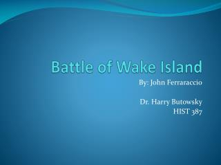 Battle of Wake Island