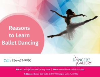 Reasons to learn Ballet Dancing
