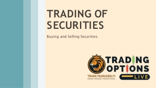 Trading Option Live- Trade Of Securities