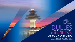 Dulles Has A New Fleet of Charter Buses at Your Disposal