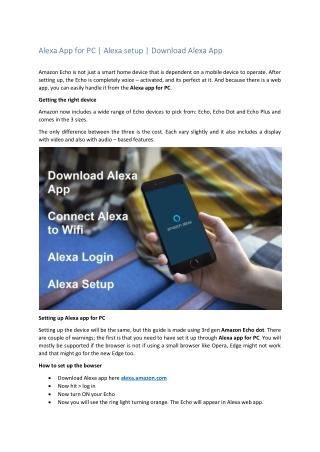 Alexa App for PC, Android, MAC, and Alexa Setup