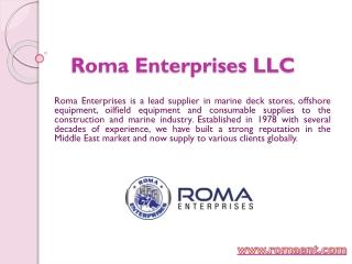 LEVER HOIST SUPPLIER - Roma Enterprises LLC