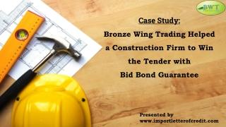 Bid Bond Guarantee – Tender Bond Guarantee