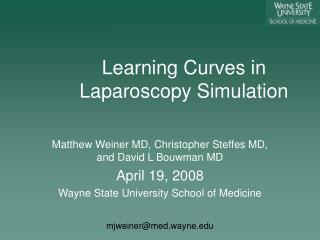 Learning Curves in Laparoscopy Simulation