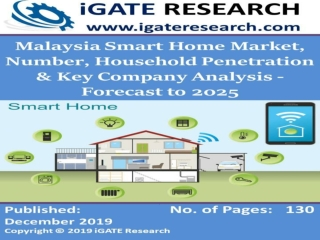 Malaysia Smart Home Market, Number, Household Penetration & Key Company Analysis - Forecast to 2025