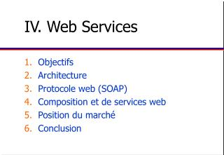 IV. Web Services