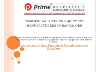 commercial kitchen equipment manufacturers in bangalore
