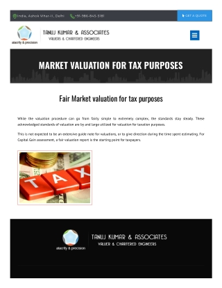 Valuation For Tax Purposes