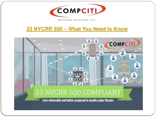 23 NYCRR 500 - What You Need to Know