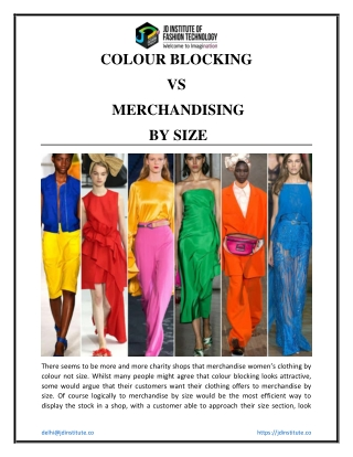 Colour Blocking VS Merchandising By Size