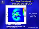 BVI Noise Investigation  Using CFD and CAA