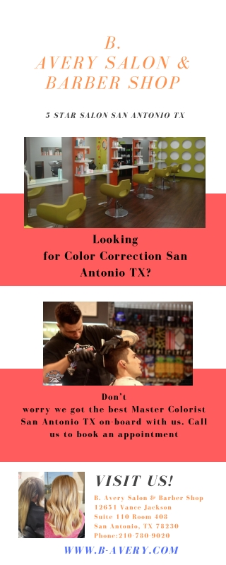 Master Colorist San Antonio TX