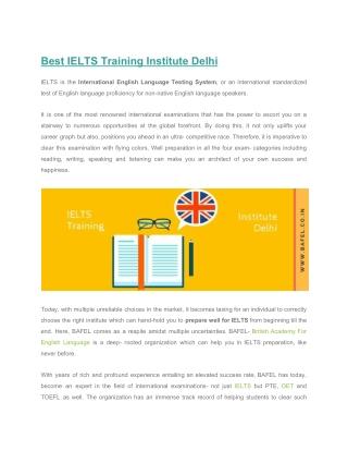 Best IELTS Training Institute Delhi