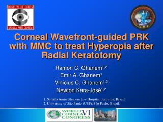 Corneal  Wavefront -guided PRK with MMC to treat Hyperopia after Radial Keratotomy