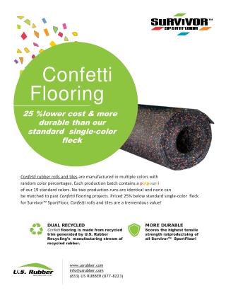 Confetti Rubber Sport Flooring USA