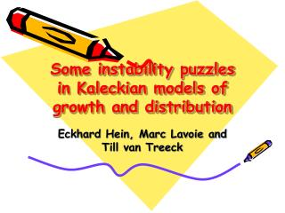 Some instability puzzles in Kaleckian models of growth and distribution