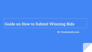 Guide on How to Submit Winning Bids