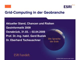 Grid-Computing in der Geobranche