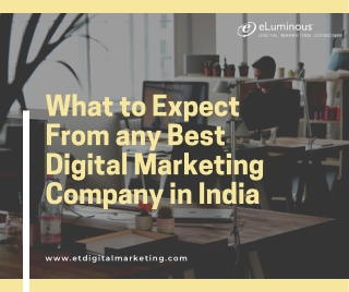 What to Expect From any Best Digital Marketing Company in India