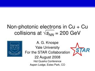 Non-photonic electrons in Cu + Cu collisions at  ? s NN  = 200 GeV