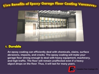Five Benefits of Epoxy Garage Floor Coating Vancouver