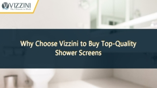 Why Choose Vizzini to Buy Top-Quality Shower Screens