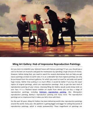 Ming Art Gallery: Hub of Impressive Reproduction Paintings