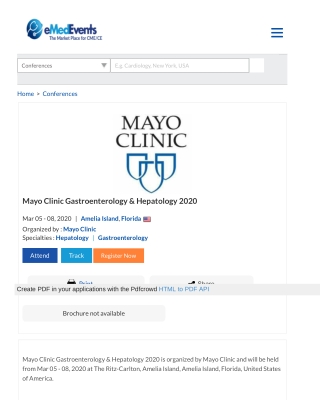 Mayo Clinic Gastroenterology & Hepatology 2020