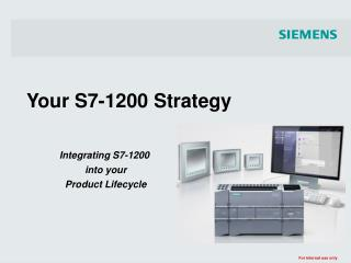 Your S7-1200 Strategy