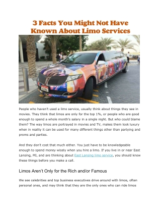 East lansing limo service
