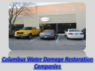 Columbus Water Damage Restoration Companies