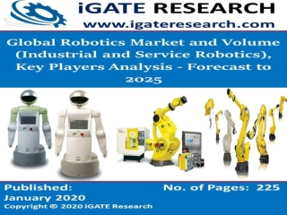 Global Robotics Market and Volume (Industrial and Service Robotics), Key Players Analysis - Forecast to 2025
