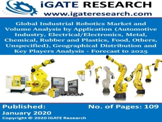 Global Industrial Robotics Market and Volume Forecast to 2025