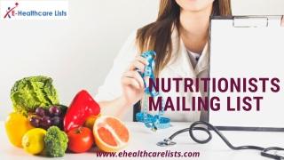 Nutriotionists Mailing List