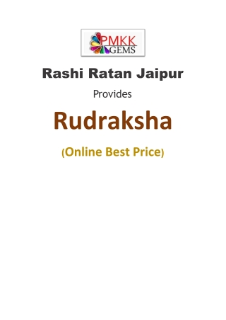 Buy Rudraksha Online || Rashi Ratan Jaipur