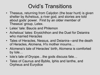 Ovid s Transitions