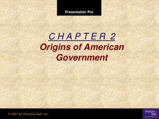 C H A P T E R  2 Origins of American Government