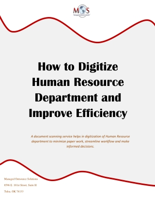 How to Digitize Human Resource Department and Improve Efficiency