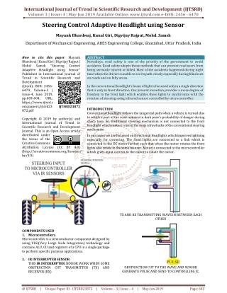 Steering Control Adaptive Headlights