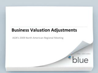 Business Valuation Adjustments