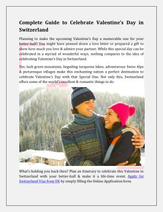 Complete Guide to Celebrate Valentine's Day in Switzerland