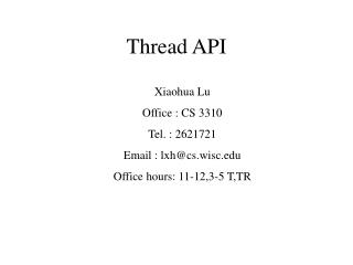 Thread API