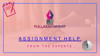 Full assignment presentation