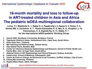 I nternational E pidemiologic D atabases to E valuate AIDS