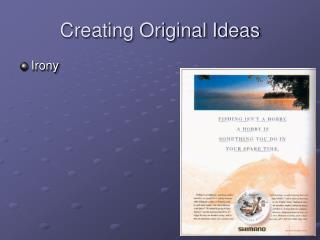 Creating Original Ideas