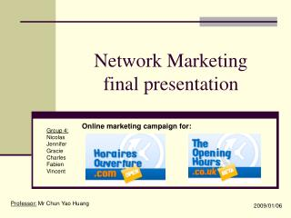Network Marketing  final presentation